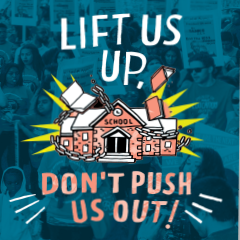 Book cover Lift US UP, Don't Push Us Out! Voices from the Front Lines of the Educational Justice Movement