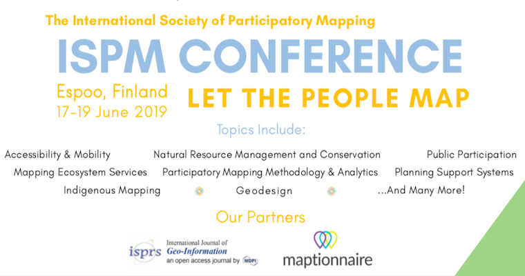 -Picture of the International Society of Participatory Mapping Website, pmappingsociety.org.