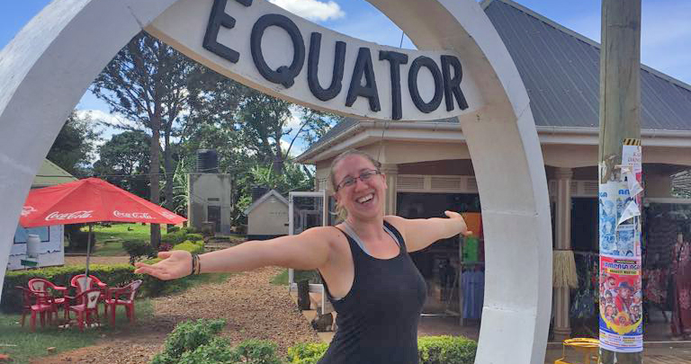 Linda Holcombe at Equator