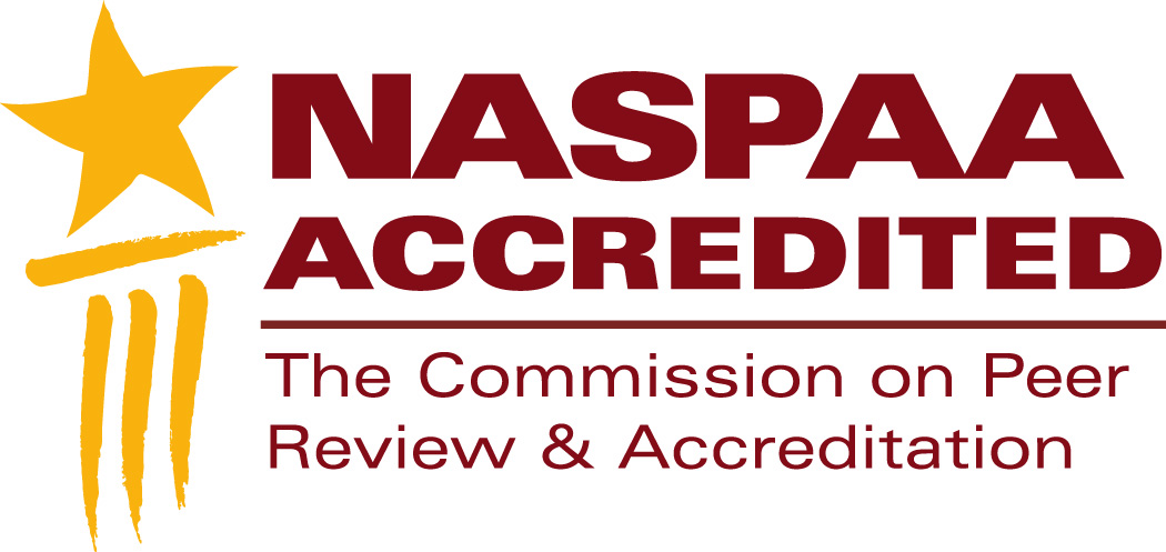 NASPAA Accredited logo (The Commission on Peer Review & Accreditation)