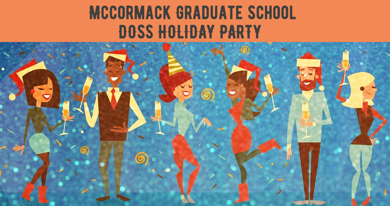 End of Semester Holiday Party Banner