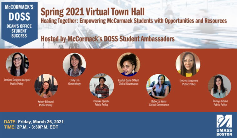 Spring 2021 DOSS Virtual Town Hall Banner